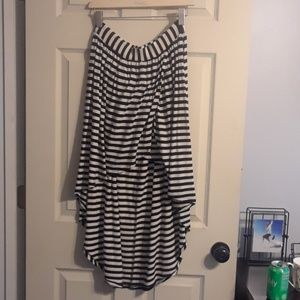 Striped High Low skirt